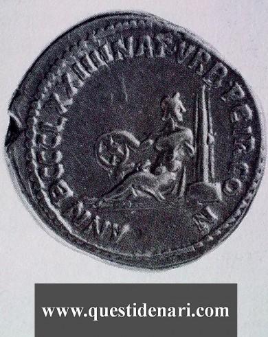 Aureo d'oro dell'imperatore romano Aureliano (121 DC)